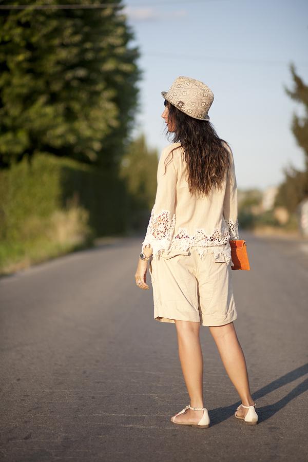 Smilingischic outfit Borsalino di paglia Bluse Zara