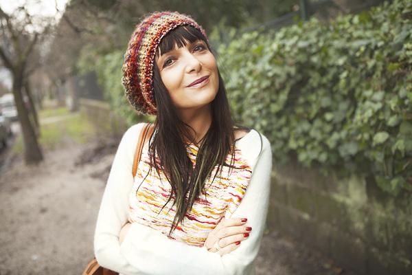 Smilingischic, Sandra Bacci. fashion blog, Multi colored striped clothes, ordinary outfit, H&M, cappello a basco colorato, basco Rossella Carrara, smile,