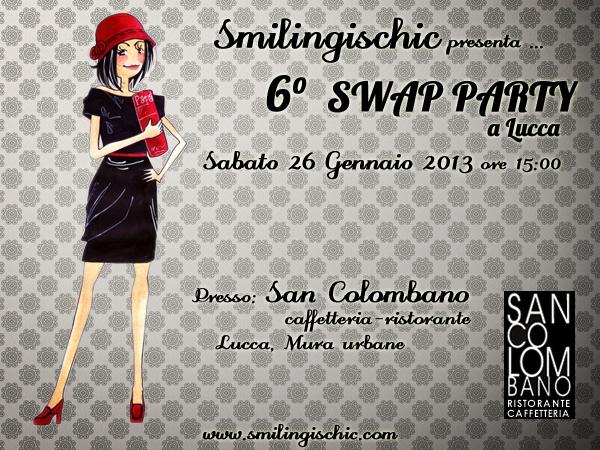 Smilingischic 6°Swap Party Lucca, banner San Colombano