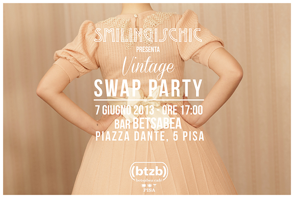 Smilingischic, fashion blog, locandina, Swap Party, Vintage Swap Party, eventi