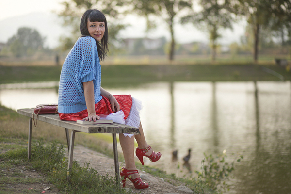 Smilingischic, fashion blogger, outfit, red and light blue, gonna a lois, mix di color, gonna con tulle, Mia Wish, _MG_2654