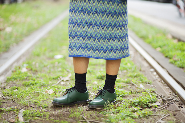 smilingischic, fashion blog, street style, zig zag missoni, vintage, dr.martins verde scuro,