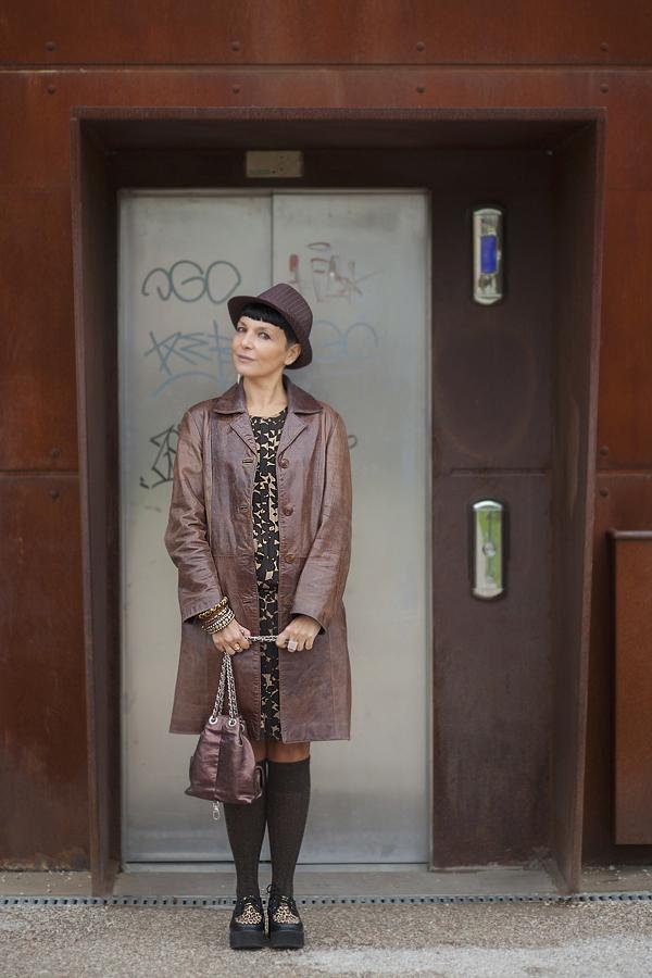Smilingischic, fashion blog, giacca di pelle, sorriso, Baracco backpack , Like a marron glaces, look autunnale, baracco bag,
