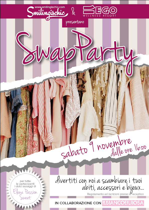 smilingischic, fashion blog, Swap party , palestra Ego, Lucca, scambio di abiti e accessori, festa del baratto