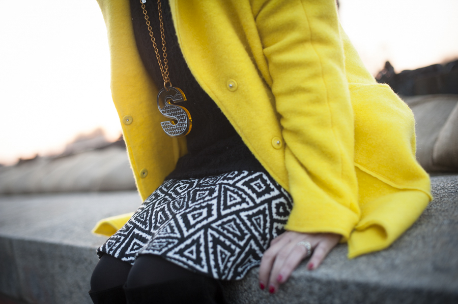 Smilingischic, fashion blog, yellow coat, sunset, Pisa , dettagli , Quid, Accessori,