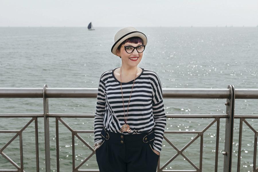 Smilingischic -1005, sailor style,  ironia, strips,  Tonfano, beach sailor style,  ironia, strips,  Tonfano, beach