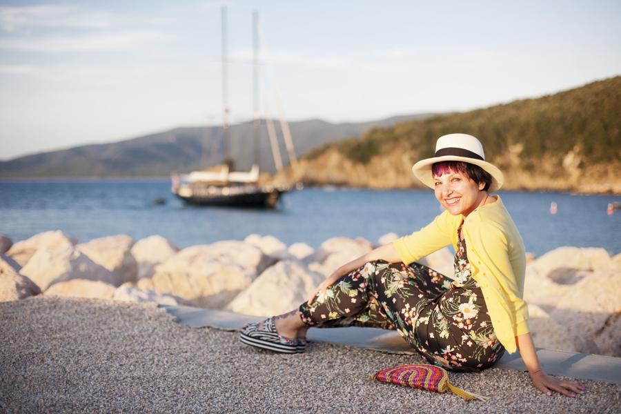 Smilingischic, beach, summer, Punta Ala, Post card,