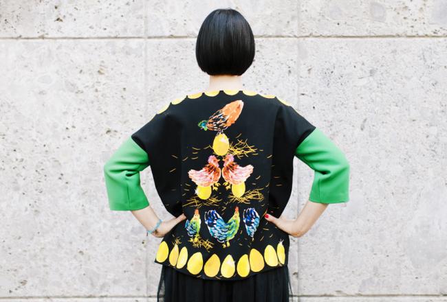Smilingischic - Giulia Rositani-1010, Sandra Bacci, felpa con le uova, Milano fashion  week