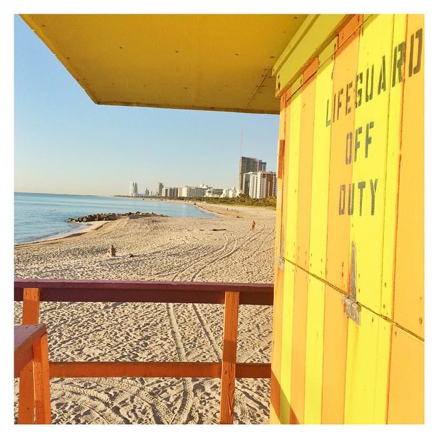 From the beach #miami #lifeguard #byebyemiami #honeymoon #sandragiorgiowedding
