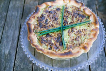 Torta salata ricotta e verdure verdi. Smiling in the Kitchen