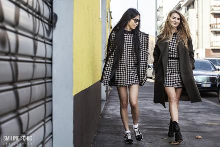 Street Style Milano Fashion Week 2015 Pied de Poule