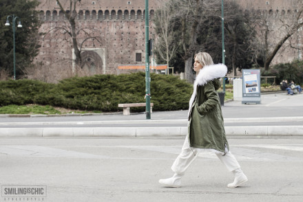 Street Style Milano Fashion Week 2015 Carola Bernard Parka