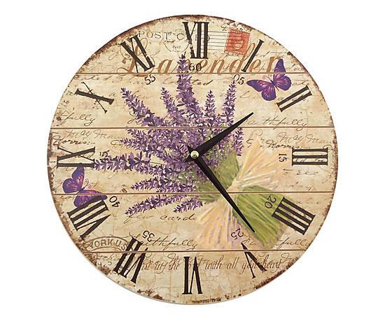 Orologio da parete in legno Lavanda