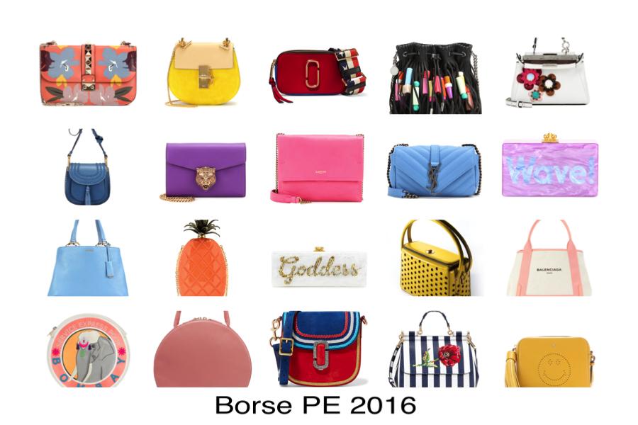 le più belle borse primavera estate 2016 , collage