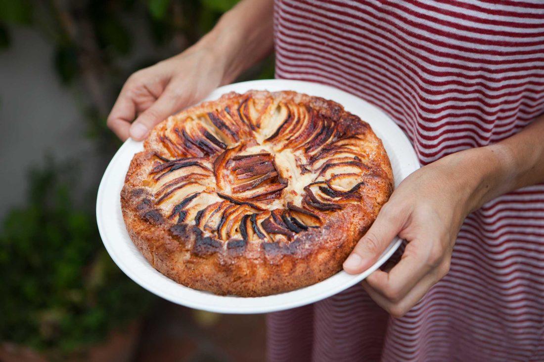 Torta crema, mele e cannella con il Bimby