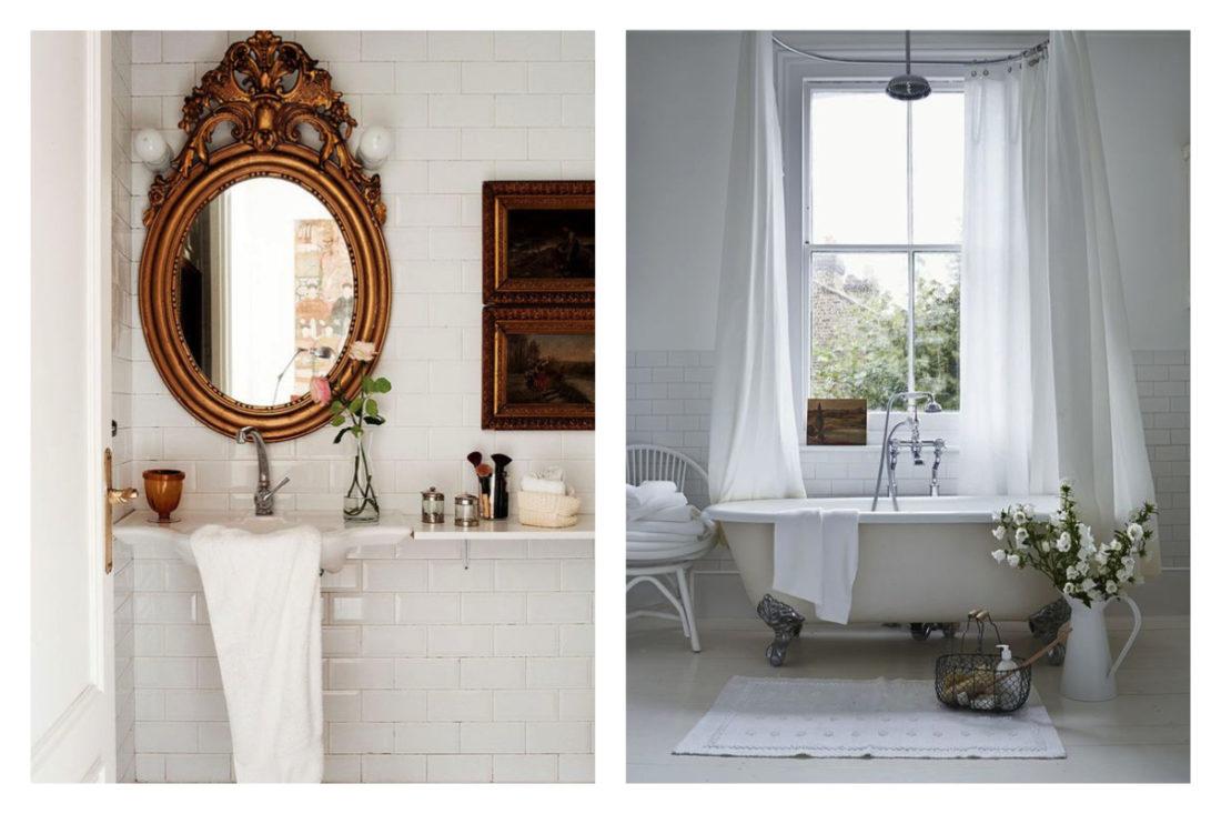 bagno in stile barocco, vasca da bagno d'epoca dai piedi leonino