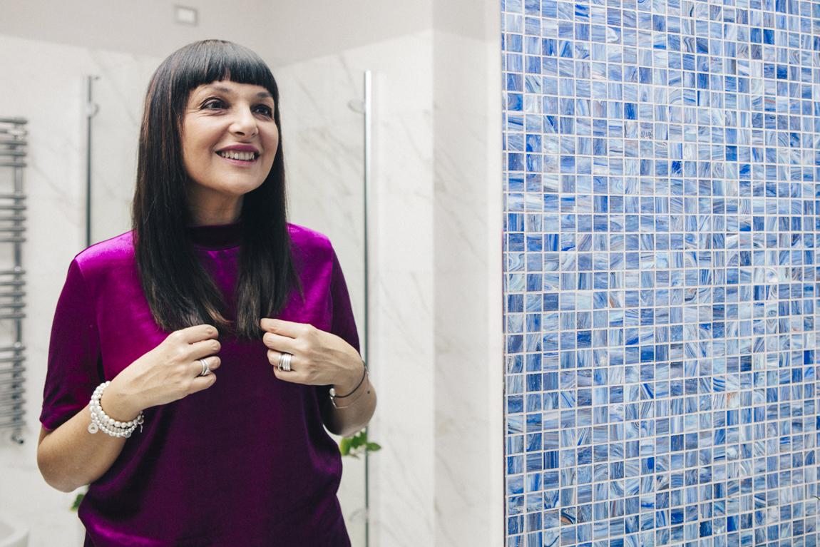 Sandra Bacci, piega perfetta con Dyson Supersonic: