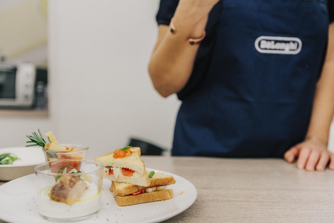 evento presentazione Multicooker De Longhi , ricetta chef in camicia