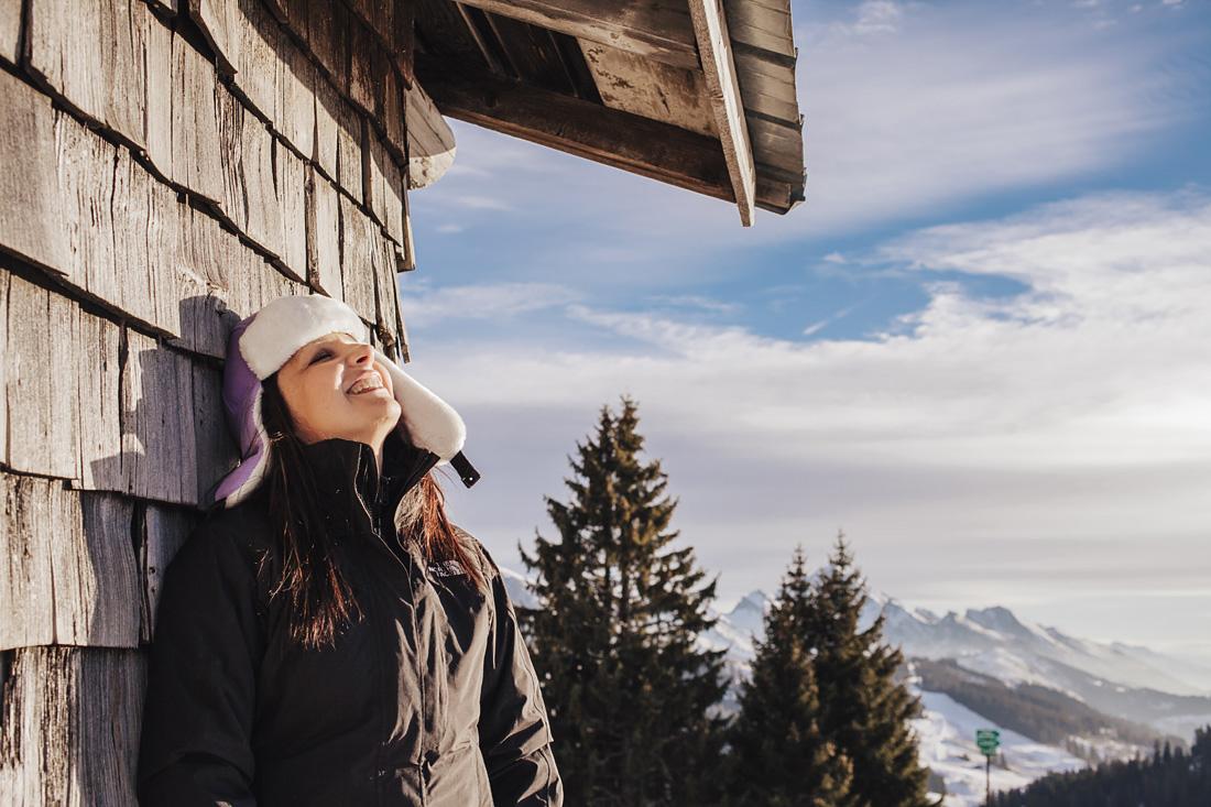 Sandra Bacci- vacanza sulla neve