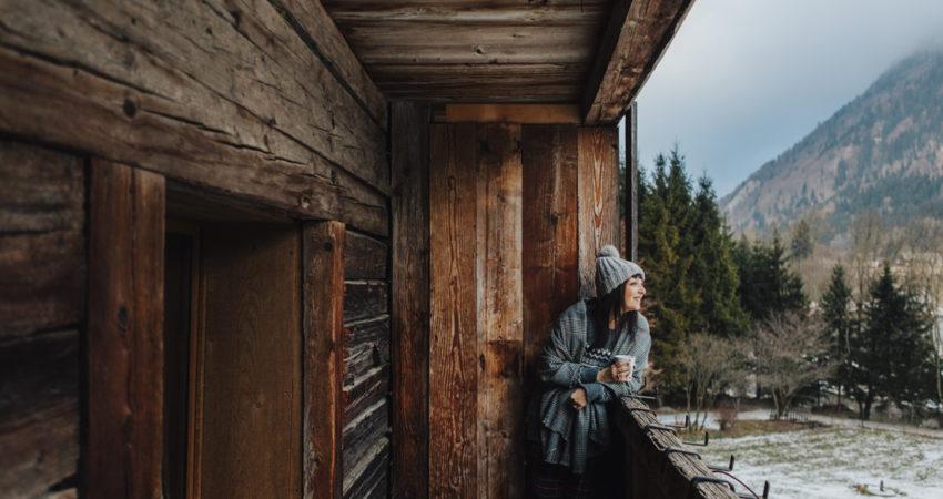 Vacanza in baita in montagna con amici