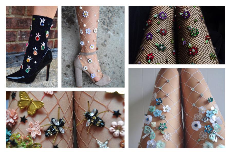 LirikasByLirika - calze con decorazioni-