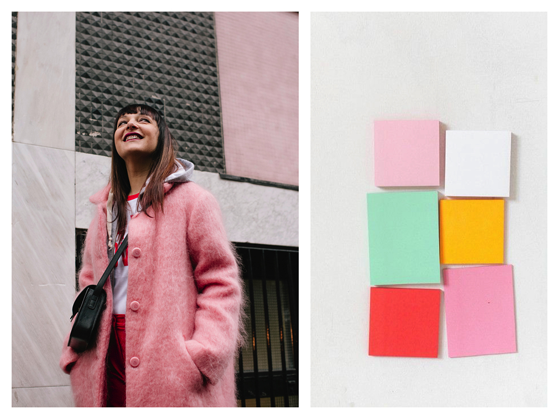 outfit - edda berg cappotto-pink style-post it