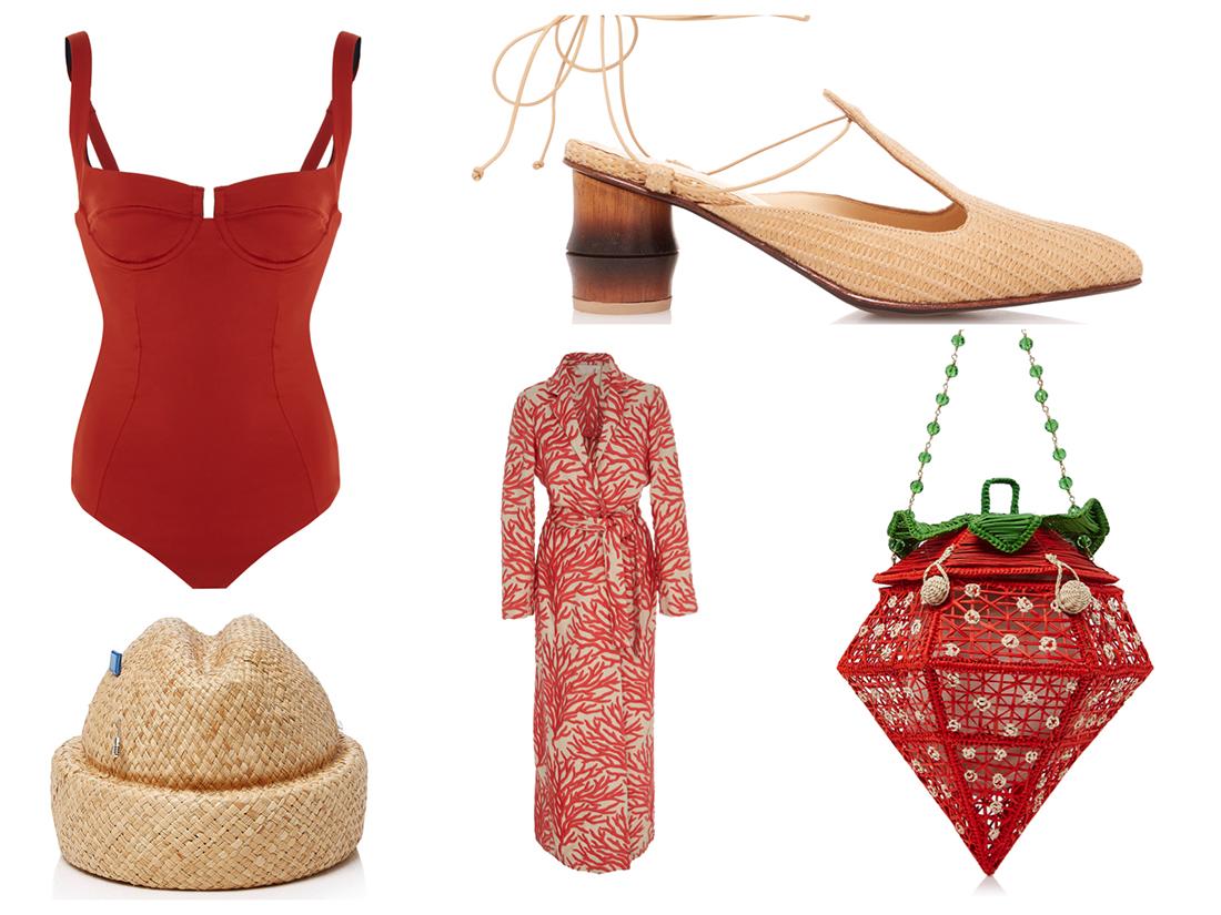 Beachwear-ispirazione rosso