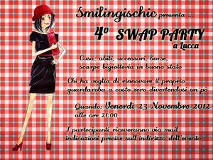 Smilingischic, 4° Swap Party a Lucca, locandina