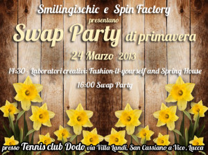 Smlingischic, fashion blog, locandina Swap Party, Swap Party di primavera