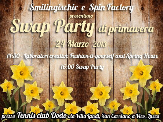 Smlingischic, fashion blog, locandina Swap Party, Swap Party di primavera