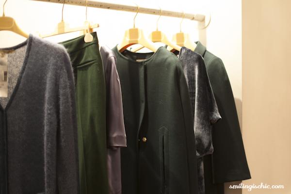 Smilingischic, fashion blog, presentazione collezione Autunno Inverno 2013/2014. L'Autre Chose, mantella verde bosco