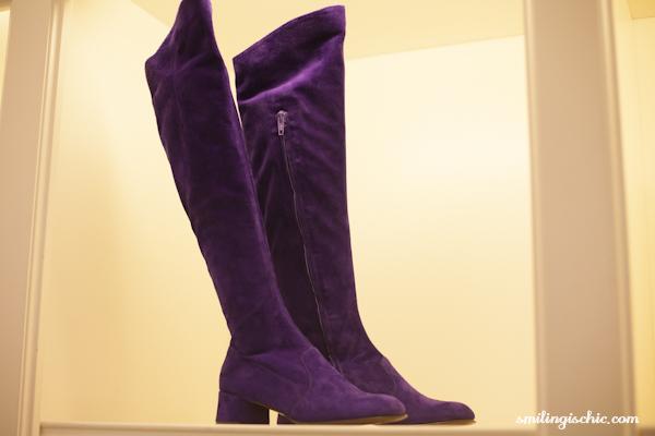 Smilingischic, fashion blog, presentazione collezione Autunno Inverno 2013/2014. L'Autre Chose, stivale viola