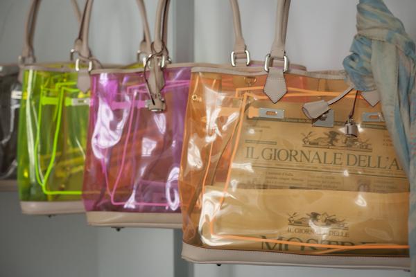 smilingischic, fashion blog, presentazione  V°73, it -bag, Elisabetta Armellin , collezione primavera estate 2012/2013, borse trasparenti