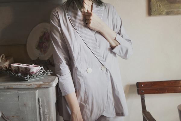 Smilingischic, fashion blogger, please do not call it pajamas, testimonial brand Gilla C.M. , pigiami sartoriali, pigiama a righine