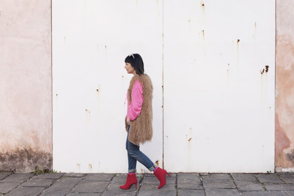 smilingischic, fashion blog, pink and red, spring, occhiali da sole Max & Co , outfit