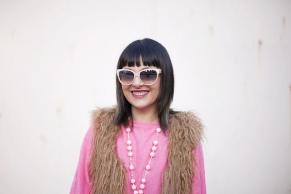 smilingischic, fashion blog, pink and red, spring, occhiali da sole Max & Co , primo piano