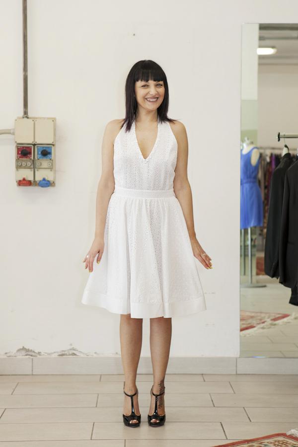 smilingischic, fashion blog, temporary store, outlet, Lucca, abito sangallo Bluegirl