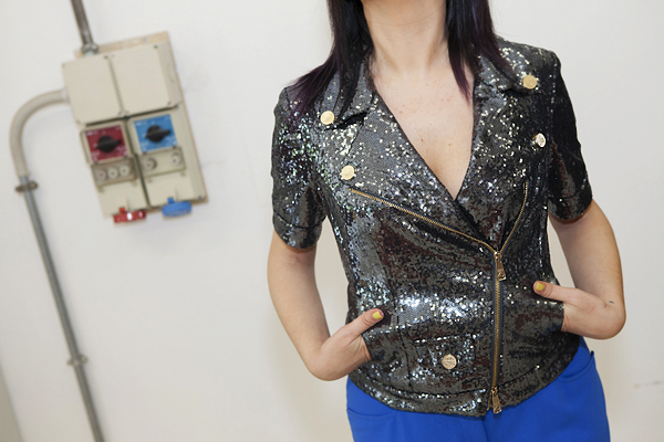 smilingischic, fashion blog, temporary store, outlet, Lucca , giacca Frankie Morello