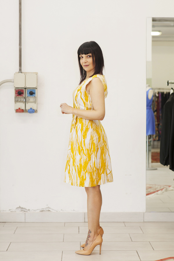 Smilingischic, fashion blog, outfits for temporary store , outlet, Lucca, abito Moschino, outfit