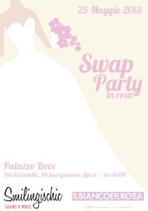 Smilingischic, Swap Party in rosa, fashion blog, Il bianco e il rosa, palazzo bove,