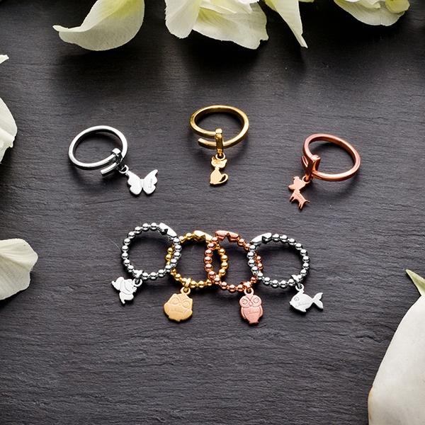Jack & Co, gioielli in argento, made in italy , anelli con ciondolino