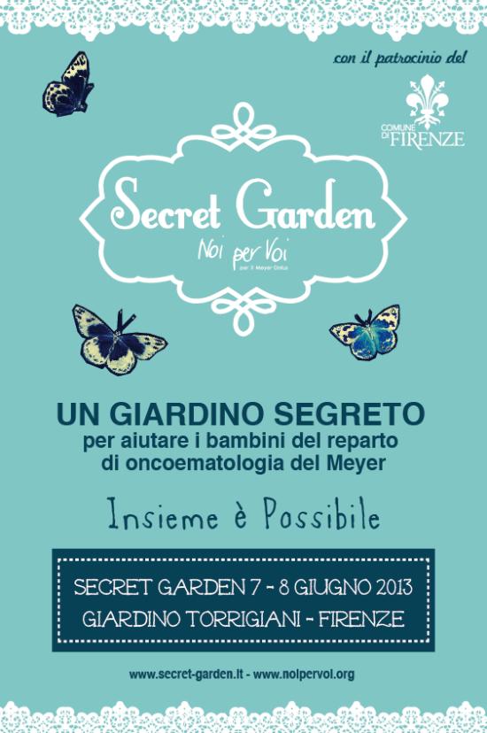 Secret Garden, Noi per Voi, Meyer, Serra torrigiani, Firenze,