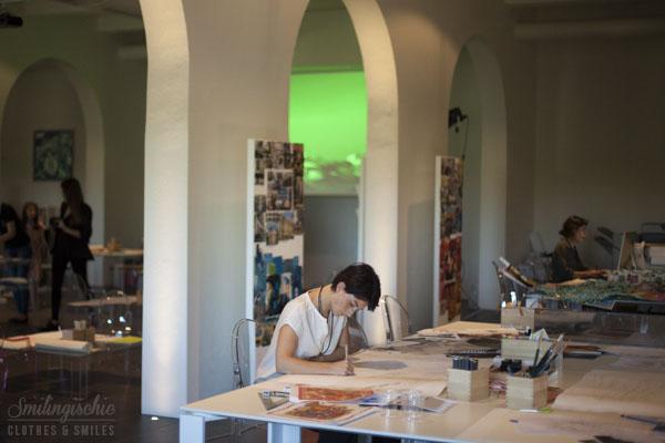 Smilingischic, fashion blog, eventi, Les Journées Particulières ,LVMH, Maison Emilio Pucci, talent center, Villa di Granaiolo, Castefiorentino,  designer al lavoro