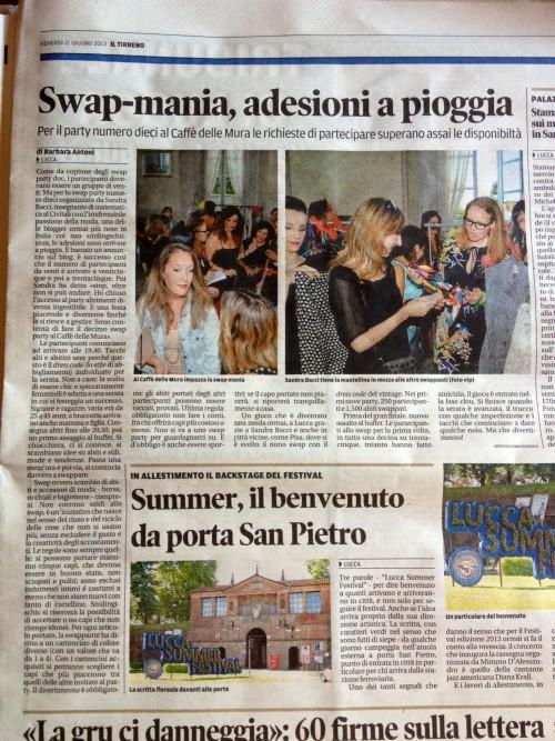 smilingischic, fashion blog, il tirreno, articolo sugli Swap parties