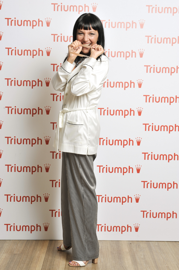 Smilingschic, fashion blog, triumph experience, triumph blogger Day, event fashion blogger, pigiama a righe maschile,