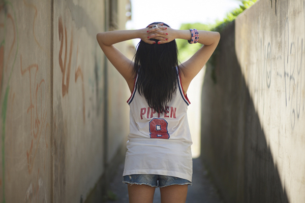 Smilingischic, fashion blog, outfit, sporty chic, campus style, Scottie Pippen,  Nike 1992 USA, Basketball Dream Team USA ,Replica Jersey T-shirt