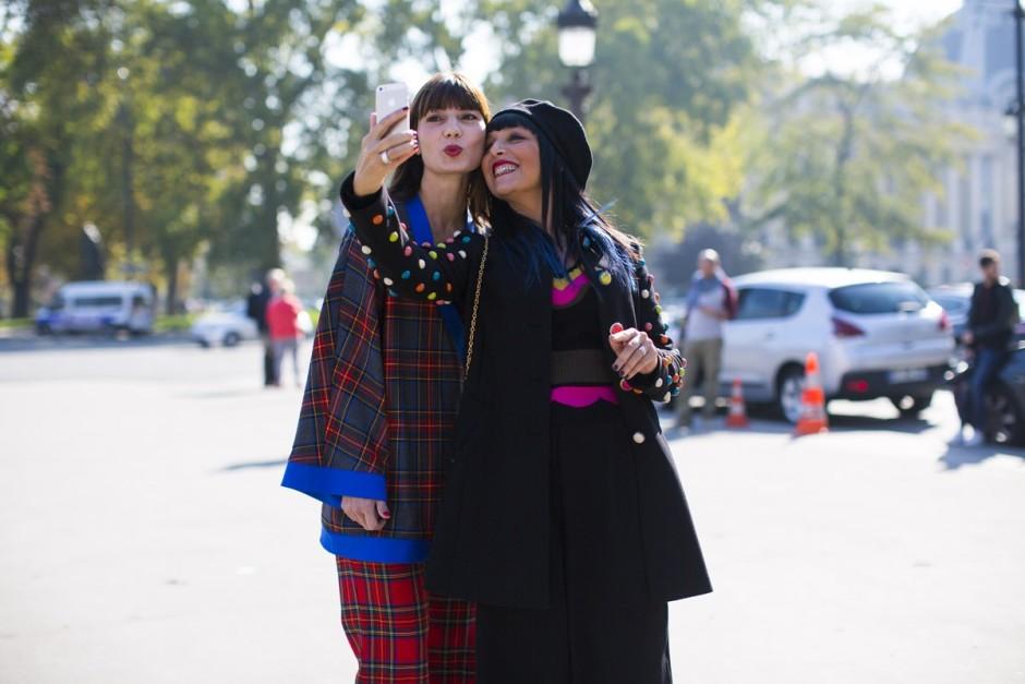 Paris Fashion week Sandra Bacci selfie