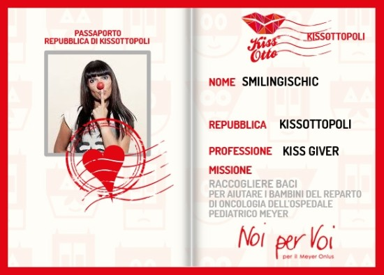 Smilingischic, fashion blog, Kissotto, passaporto Sandra Bacci, I'm a kiss giver