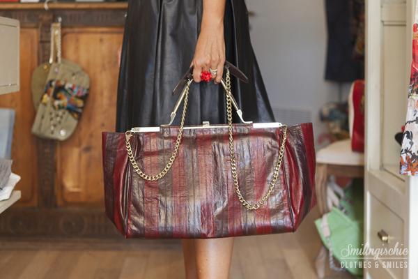 smilingischic, fashion blog, Moi Je Joue Tonfano atelier, nuova collezione Autunno Inverno 2013/2014, borsa Zanchetti, pelle d'anguilla