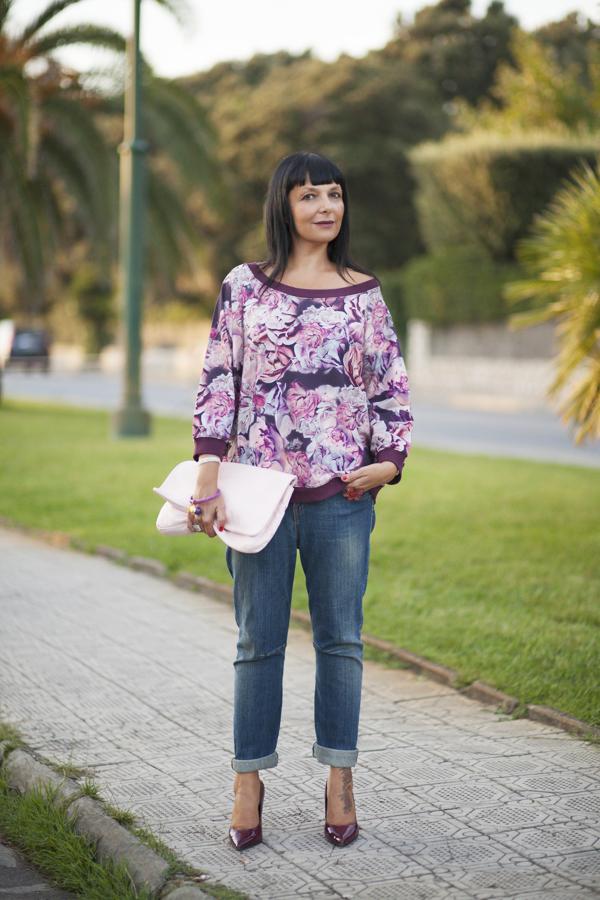 Smilingischic, fashion blog, dettagli felpa, colore amarena,  Motivi , F/W 20132014 Motivi, outfit